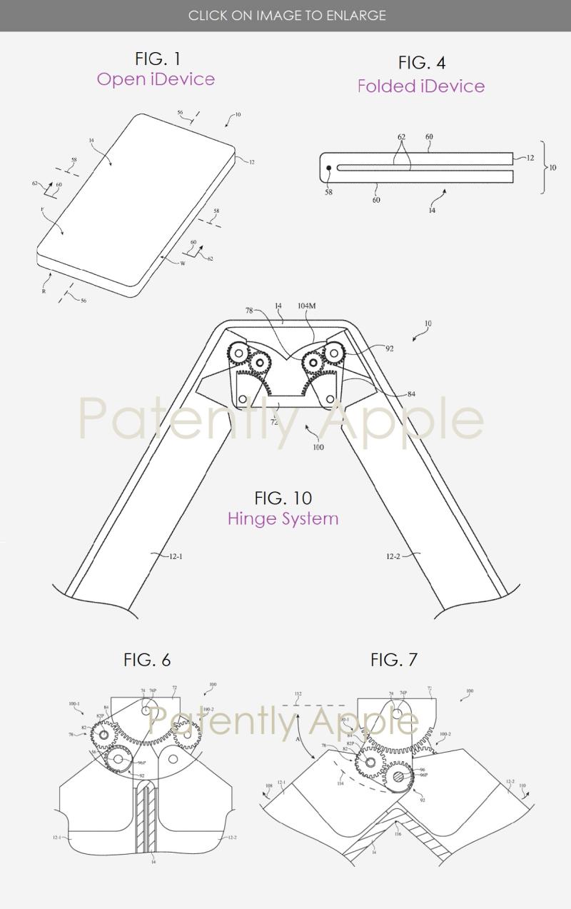 2 apple folding display gears patent