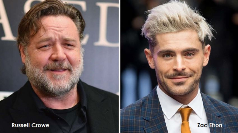 1 cover Russell Crowe  Zac Efron