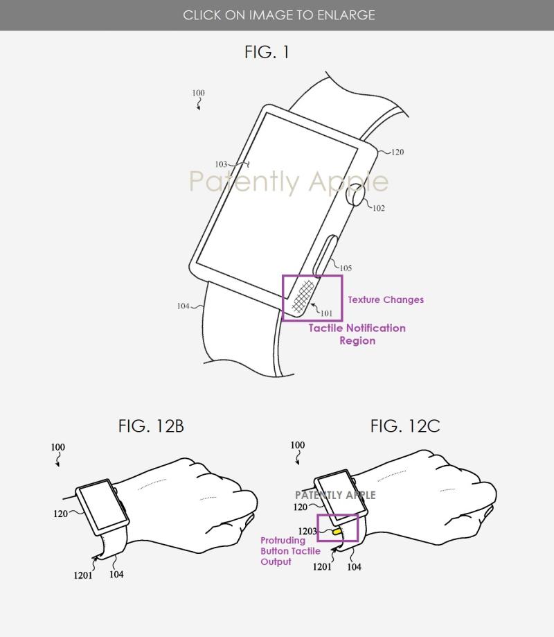 4 x  Apple Watch tactile notification regions
