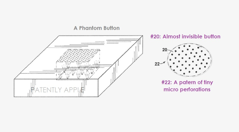 1 cover - 13 year old patent about near invisible buttons is revised in continuation patent