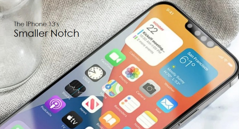 1 x cover - smaller notch for iPhone 13