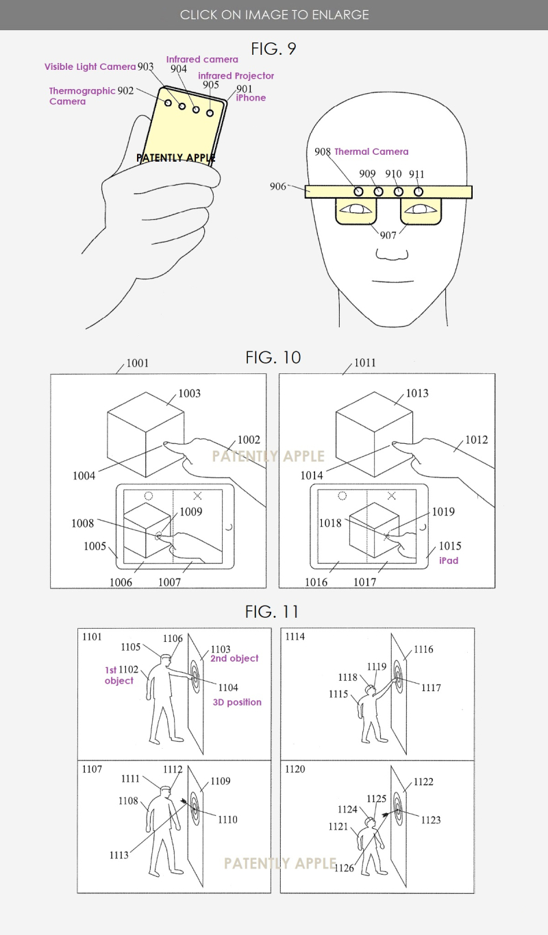 4 x APPLE PATENT FIGS THERMAL TOUCH