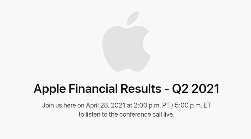 1 cover - Apple Fiscal Q2 2021