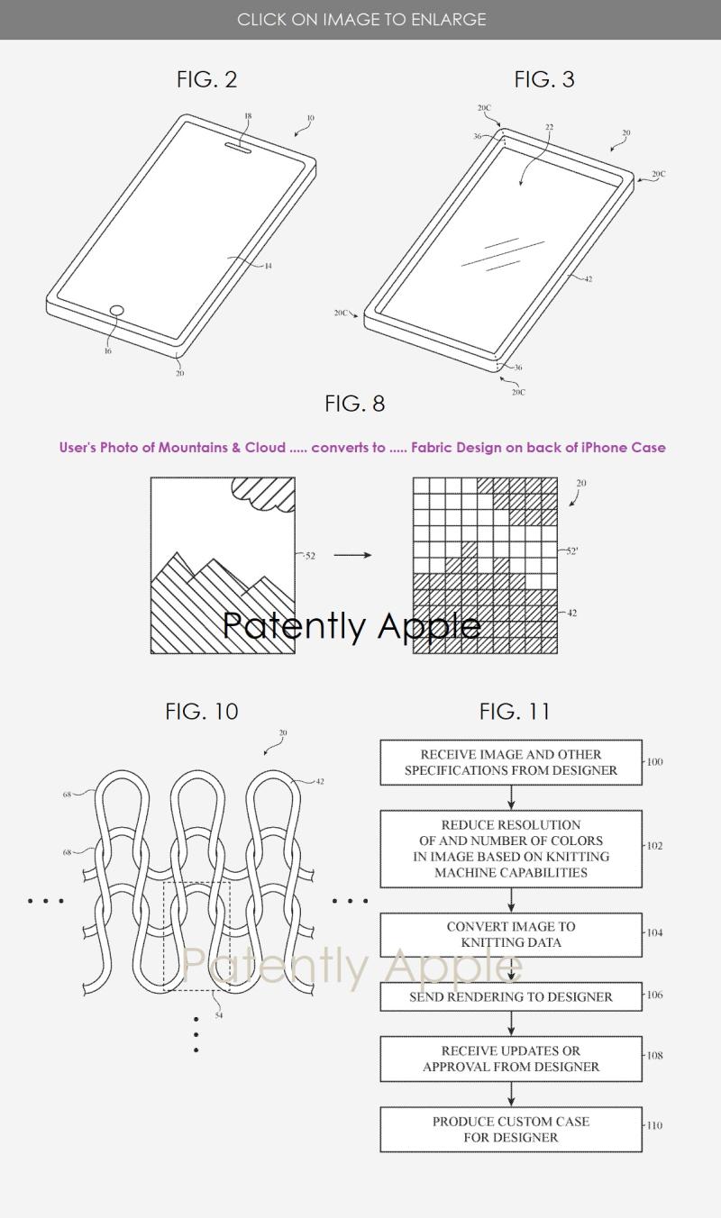 2 custom designed fabric iPhone case