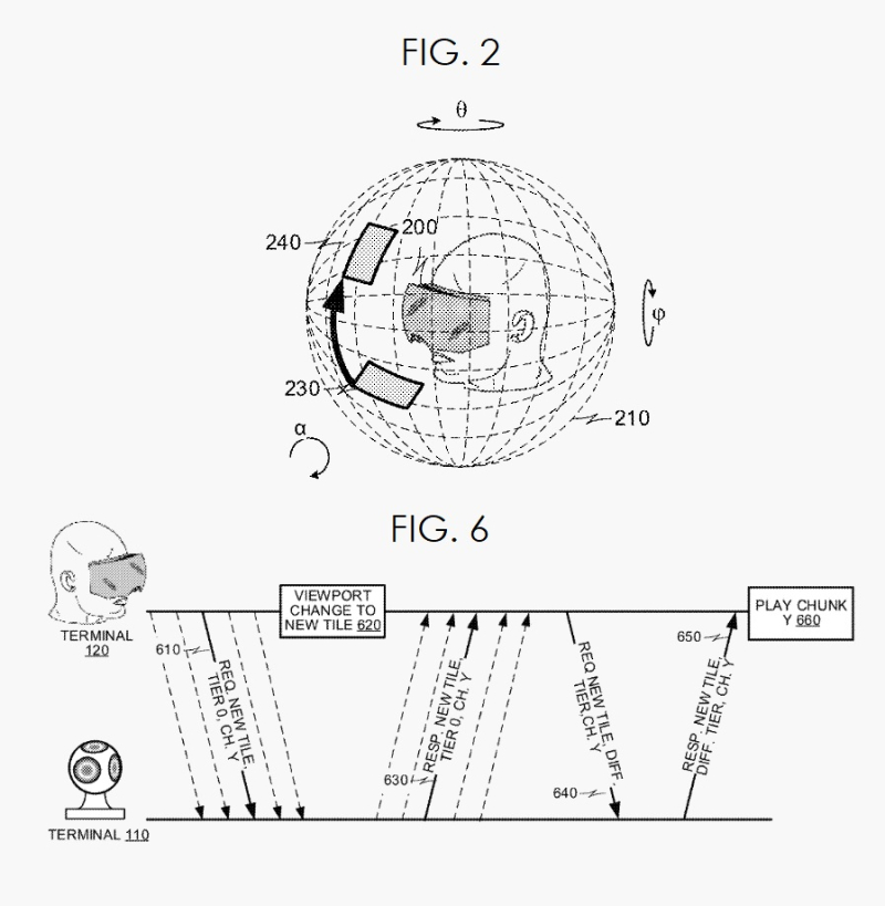 3 Apple patent figs 2 and 6 video streaming  hmd