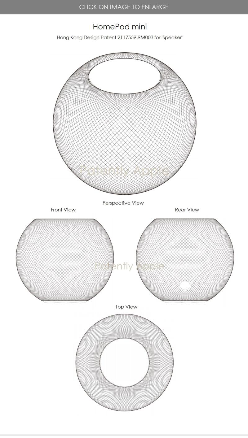 2 HomePod mini design patent .9M004