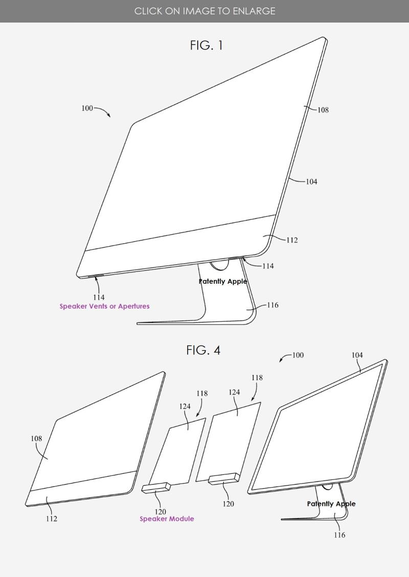 2 2021 - iMac Speaker patent