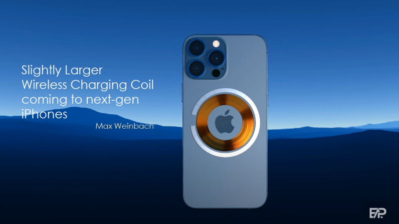 2 larger charging coil for 2022 iPhones