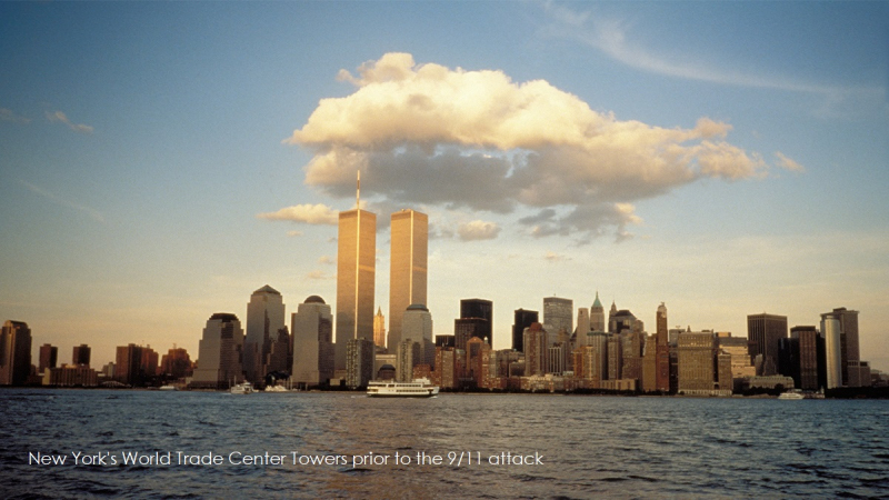 1 cover - Twin Towers NY prior to 9.11 attack