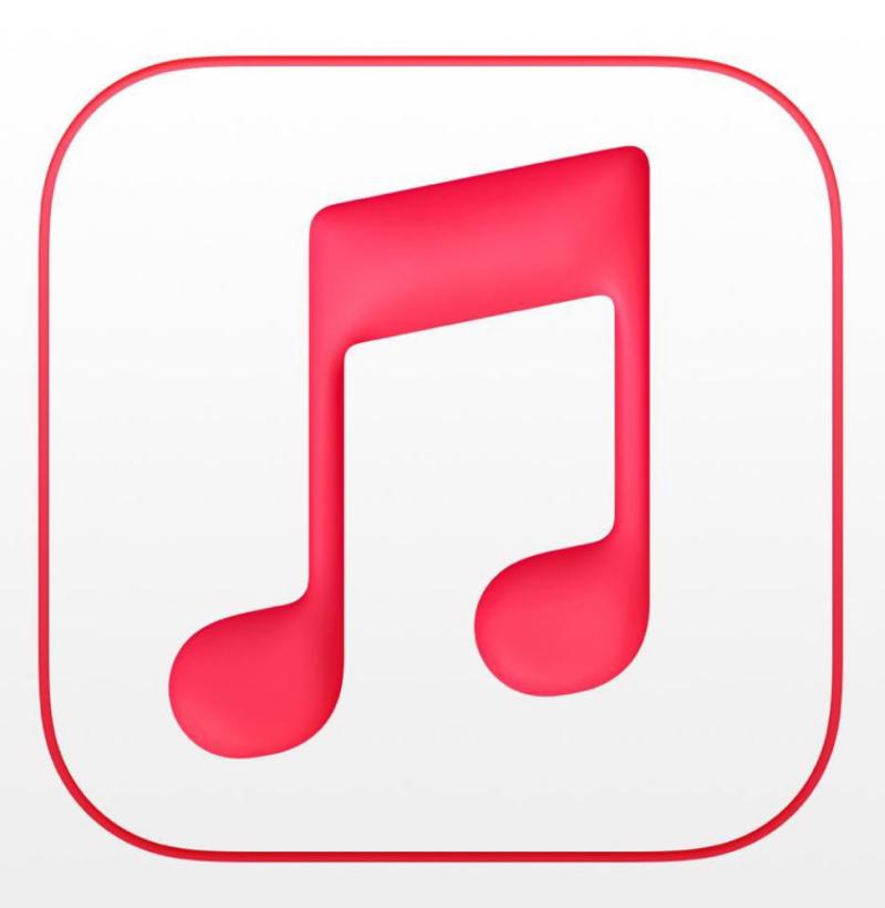 3 Apple Music logo in Red & White