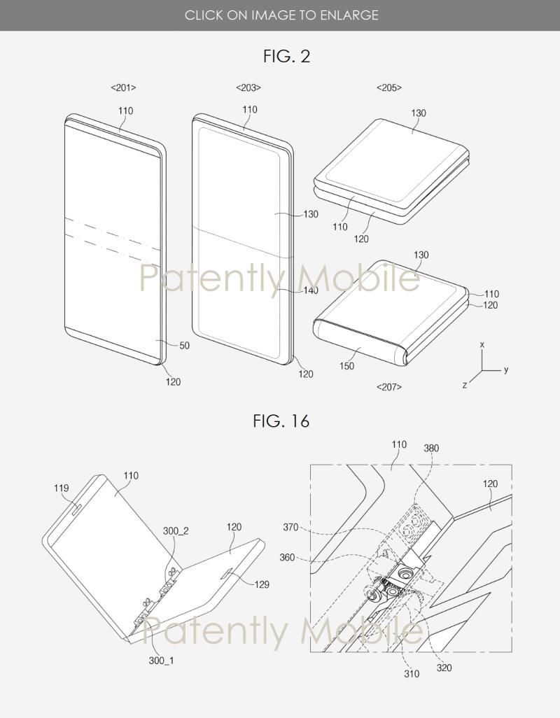 5 folding flip phone style granted patent samsung