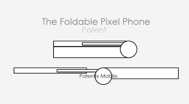2 Pixel folding phone patent figures