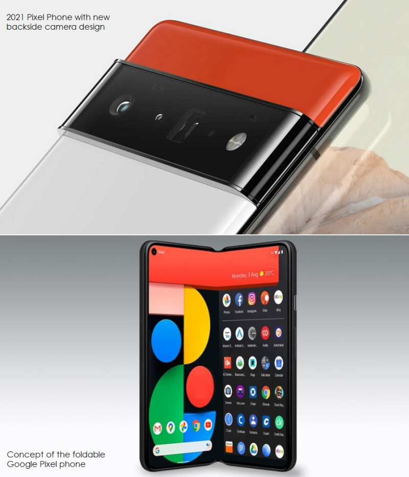3 Google 2 styles of smartphones including the Pixel Fold