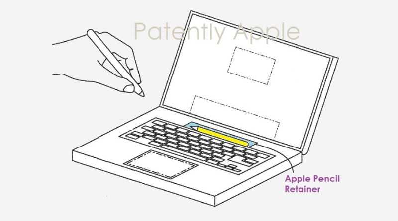 1 cover - MacBook with Apple Pencil Retainer  Apple Pencil takes on additional functionality in MacBook