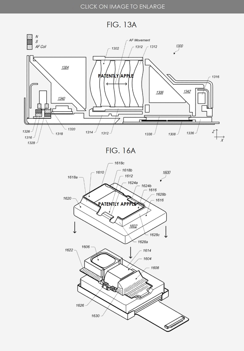 4 Apple granted patent figs for a foldable camera