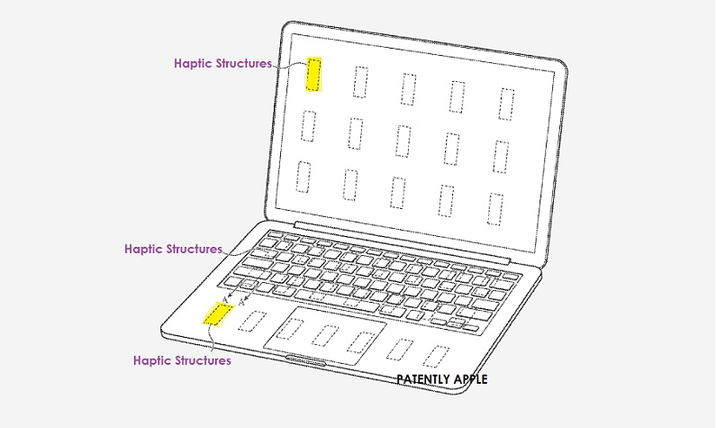 1 Cover MacBook with localized haptics in main display +  Apple patent  Patently Apple