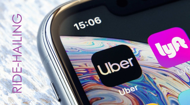 1 x iPhone with Ride-Hailing apps
