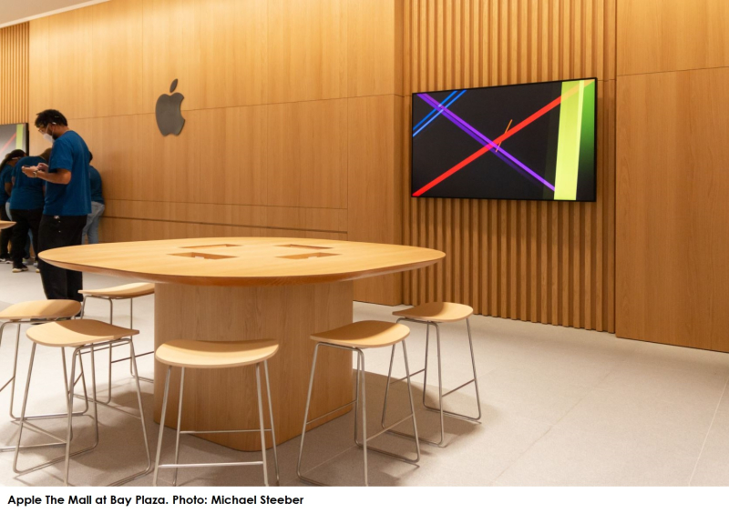 3 Bronx Apple Store with new Today at Apple tables