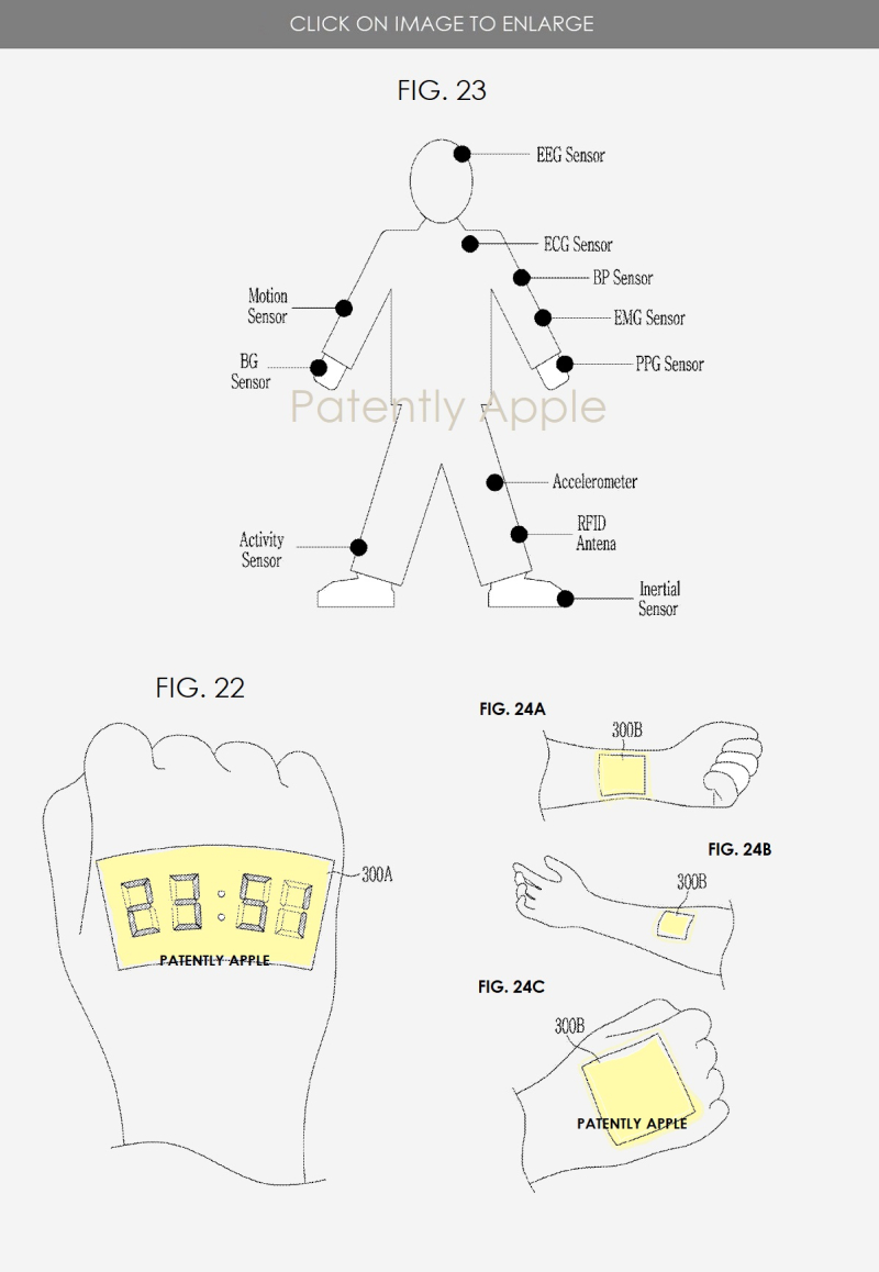 2 SAMSUNG PATENT FOR STRETCHABLE DISPLAYS  SMART HEALTH STICKERS
