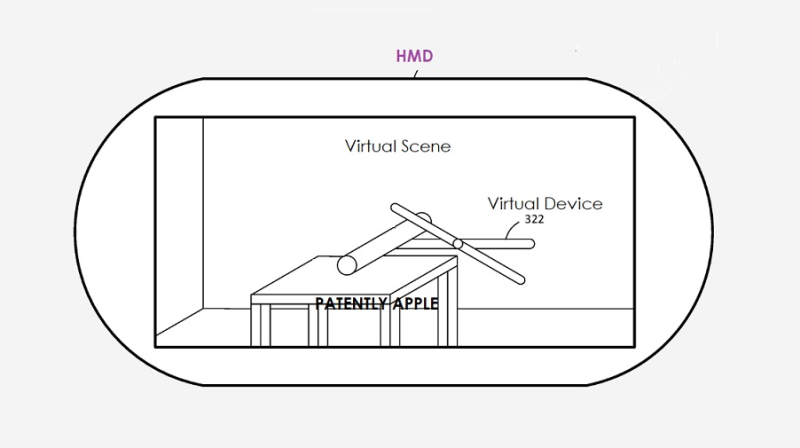 1 HMD with virtual control