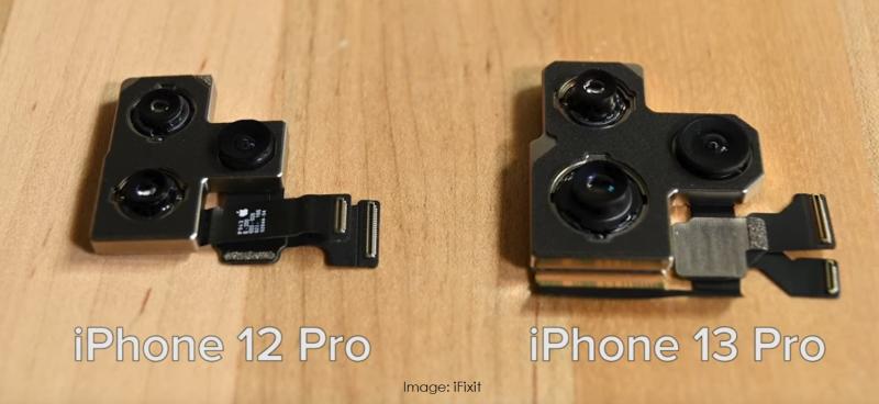 2 larger iPhone 13 camera  iFixit image