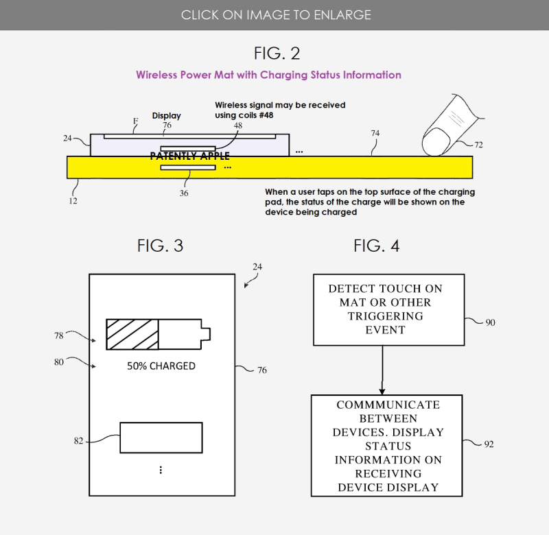 2 x apple patent charging pad related