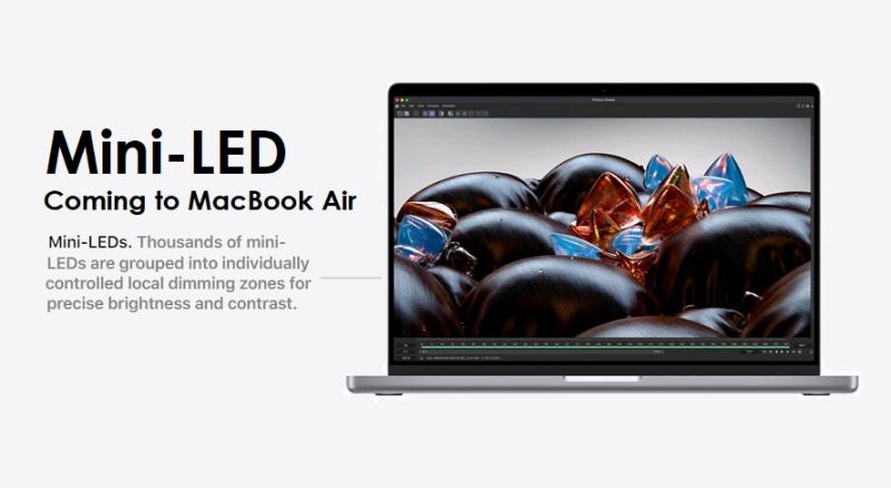 1 cover MacBook Air to gain mini-LED - rumor report