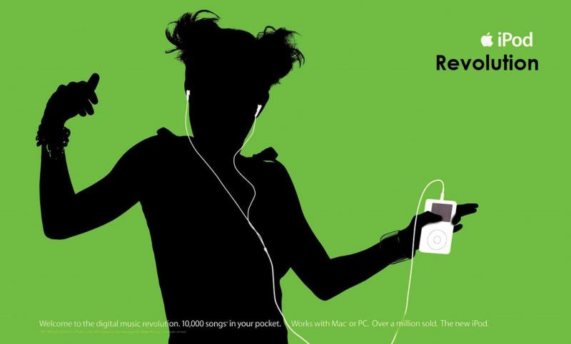 1 x cover iPod Silhouette Ad art