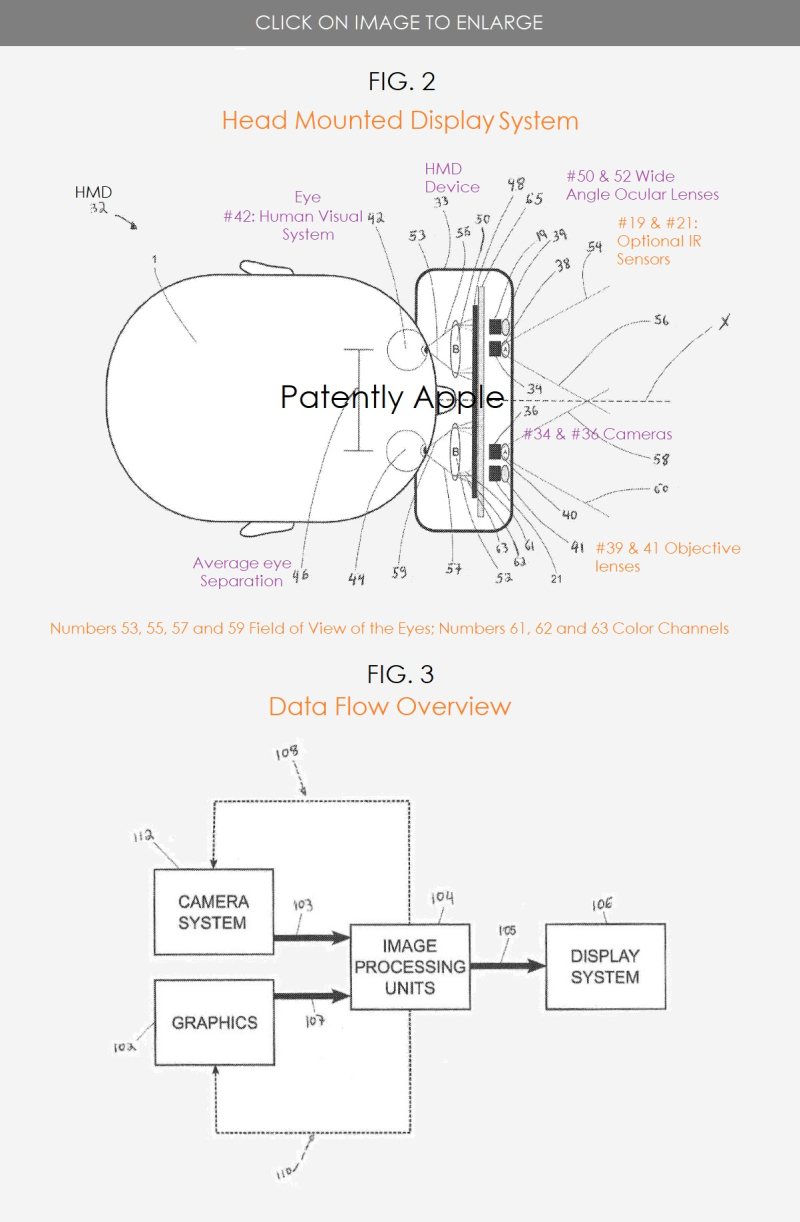 2 Apple MR HMD PATENT FIGS 1 & 2