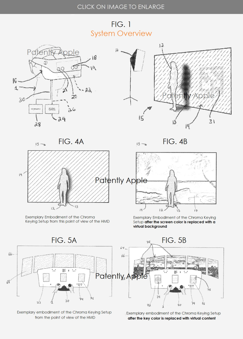 3 Apple patent  HMD SYSTEM - figs1A  4AB  5AB