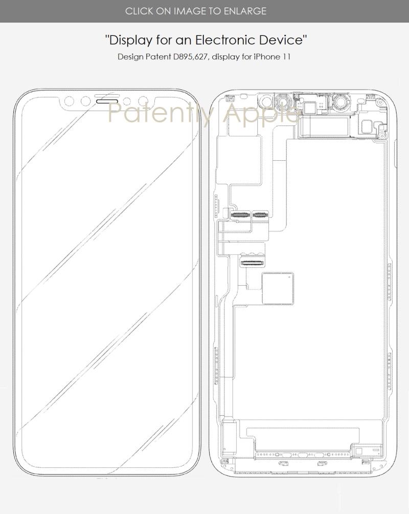 3 x iphone x design patent
