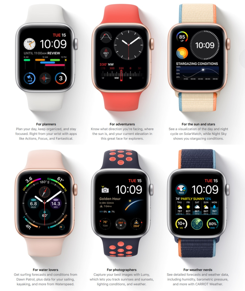 2 Apple Watch Faces patent