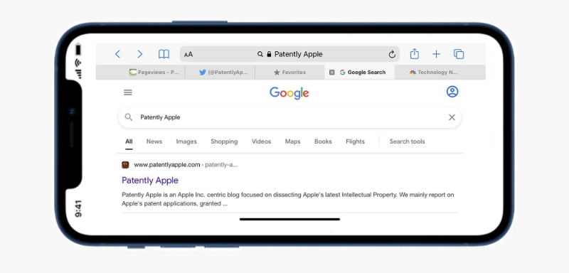 1 cover google search on iPhone  Patently Apple
