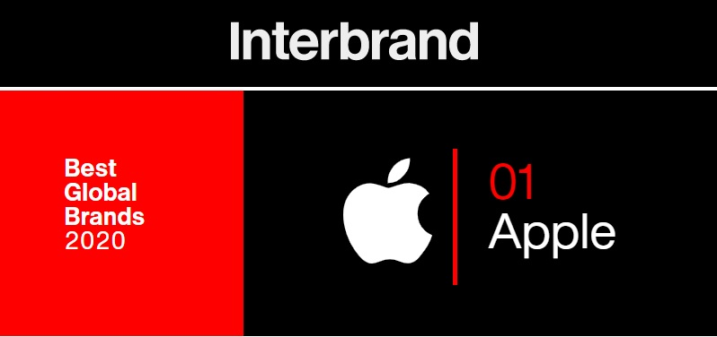 1 cover X Interbrand  Apple #1 brand for 2020