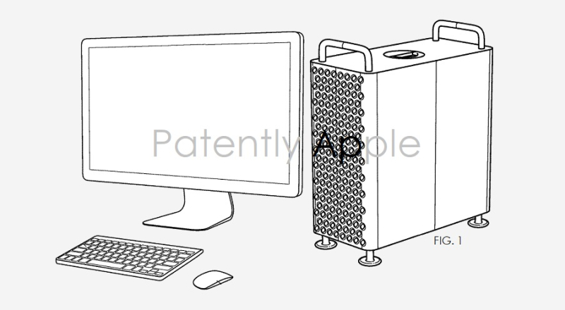 1 X cover Mac Pro architecture patent for air-flow system