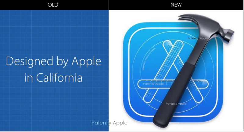 4 X old-new - Designed by Apple in California logos