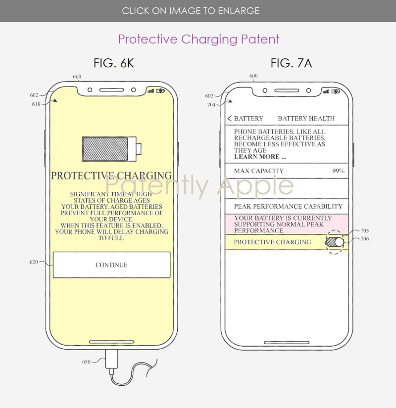 2 X figs. 6K & 7A Apple Protective Charging Patent