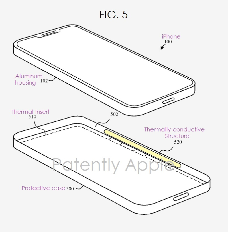 2 Apple granted patent fig. 5 smart case to keep iPhone cool