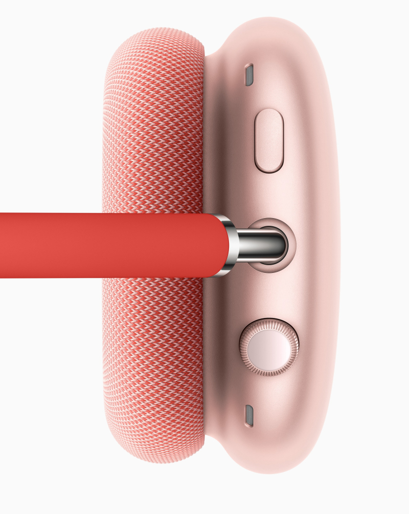 3 apple_airpods-max_top-red_ illustrating Digital Crown