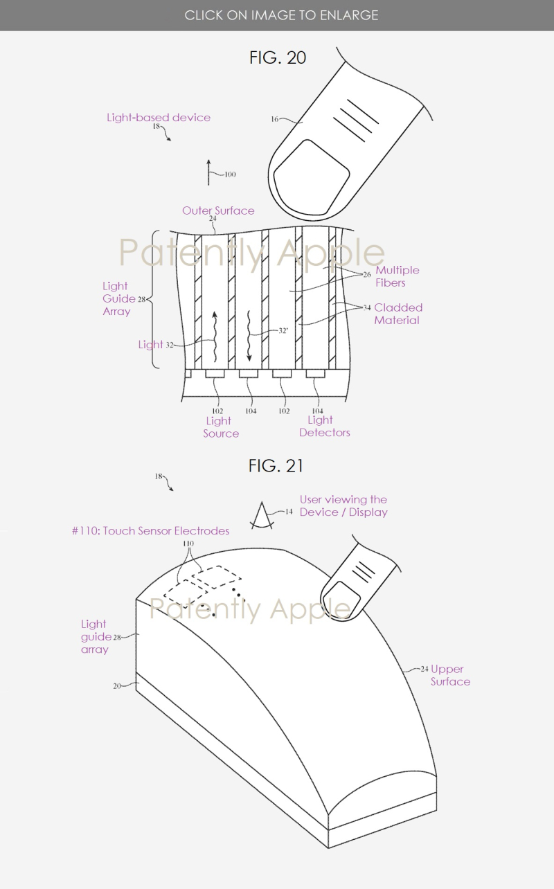 4 Apple patent figs 20 and 21 light-based display
