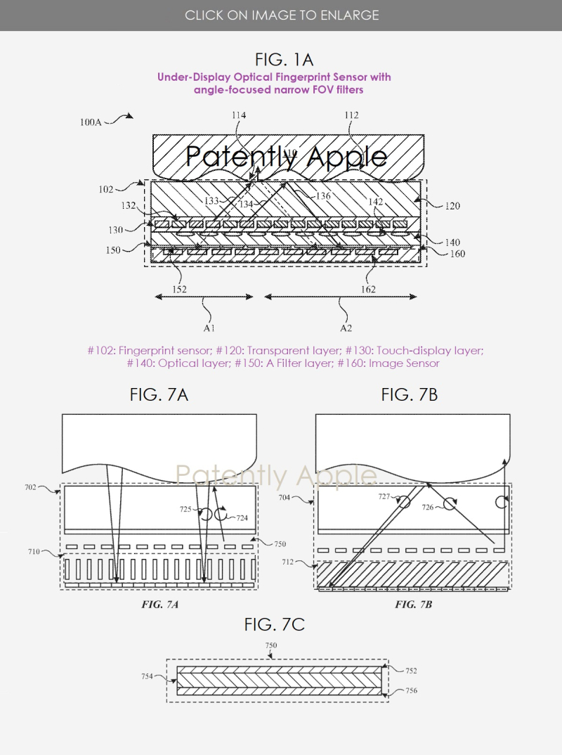 2 under-display touch id patent figs 1a  7abc