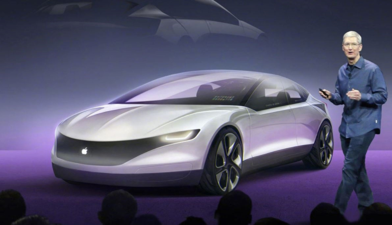 1 X apple car hyped photoshop image