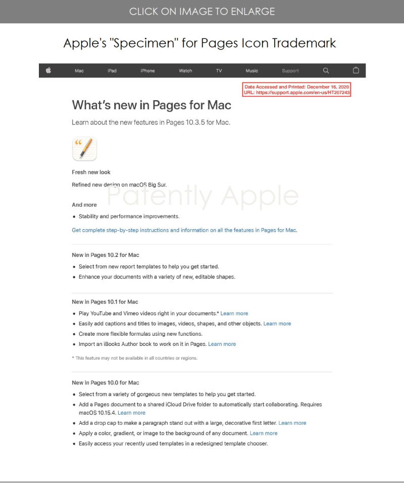 5 Specimen page for macOS Pages Icon TM update