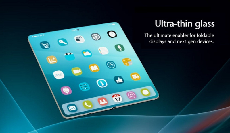 1 x cover UTG glass for foldable devices