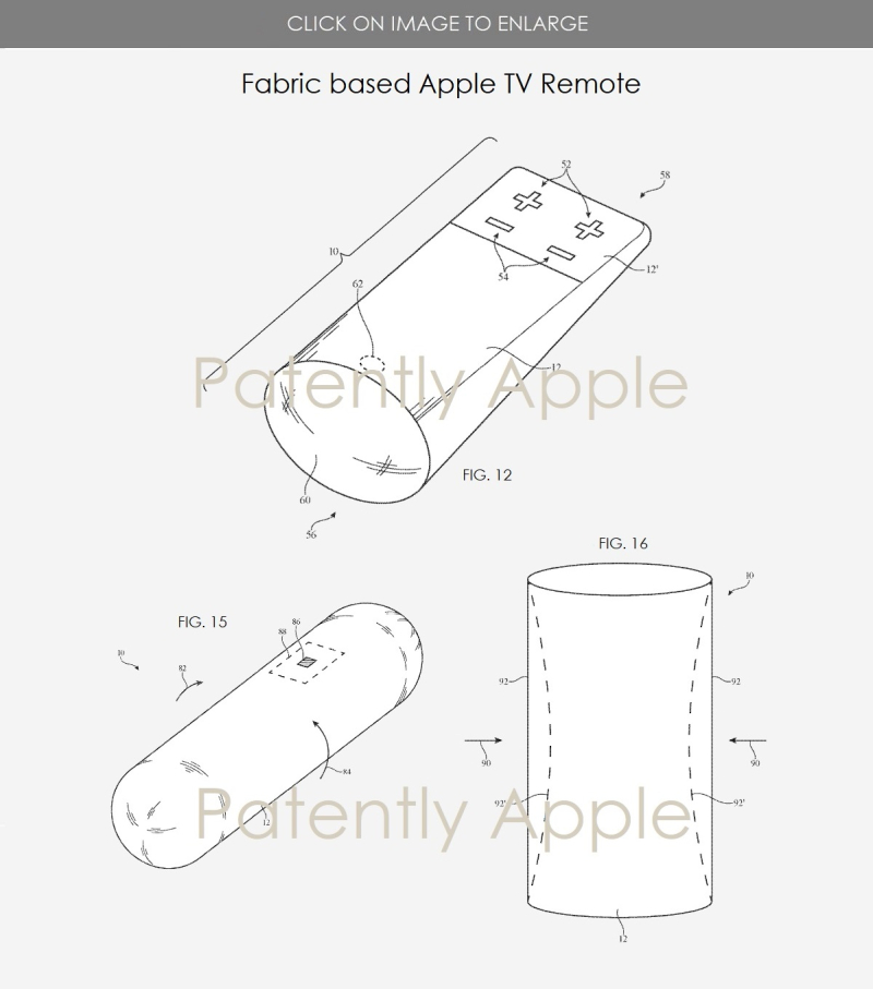 2 Apple granted patent figs for devices using smart fabric