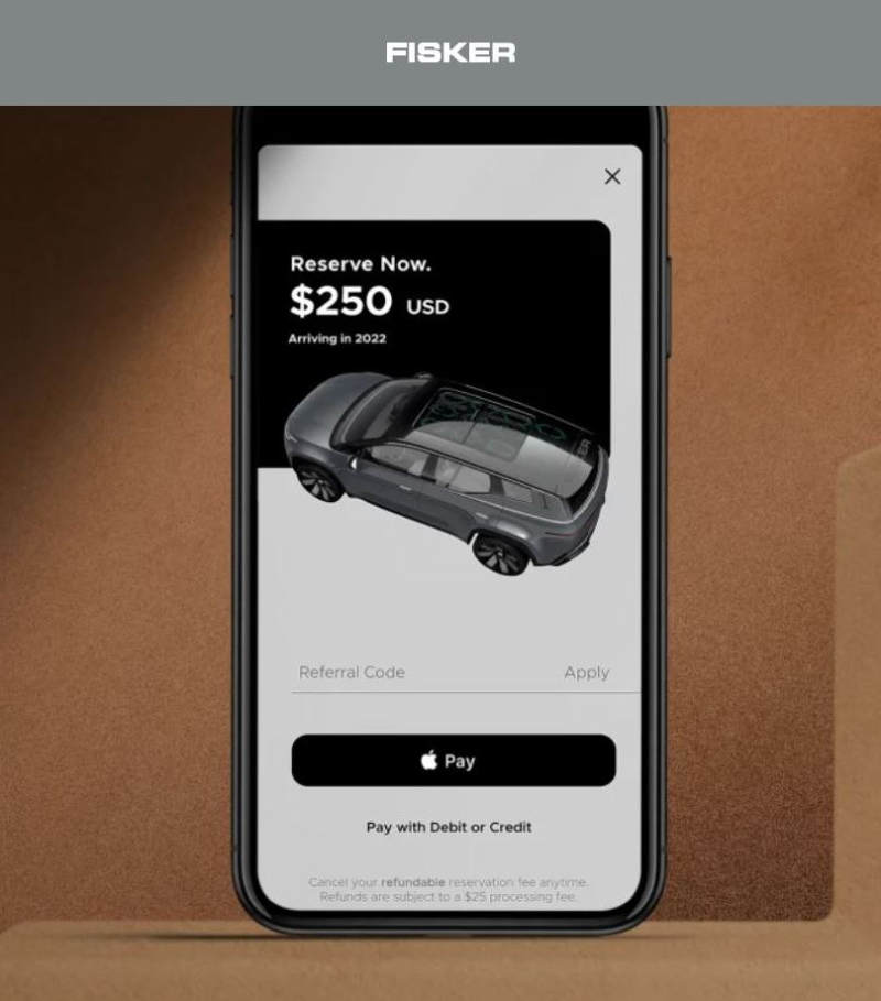 2 Fisker uses Apple Pay