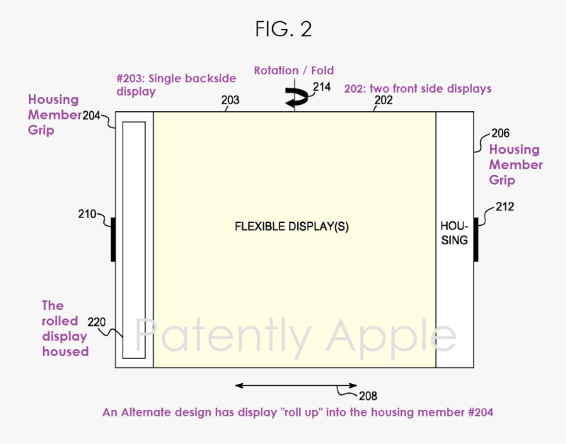 2 apple patent for a future folding device