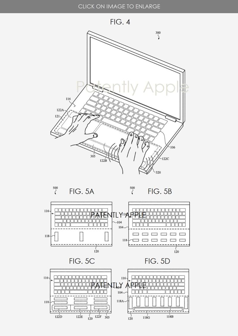3 Apple MacBook patent figures  new haptics