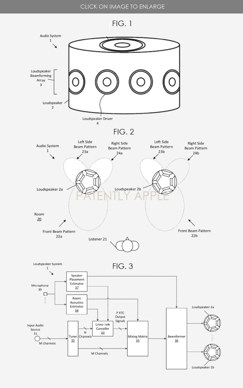 2 Apple Surround Sound system patent figures