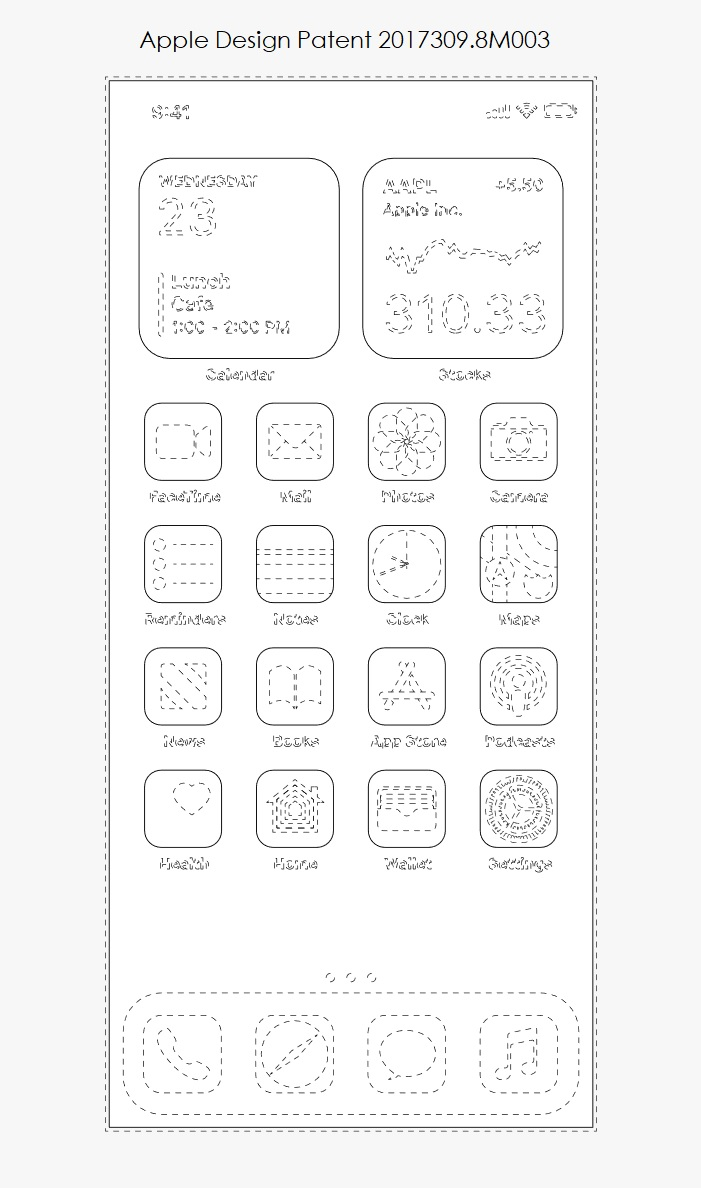1 extra iOS 14 GUI outline of Apps and Widgets
